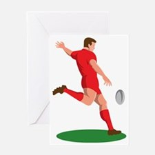 Rugby player kicking ball Greeting Card