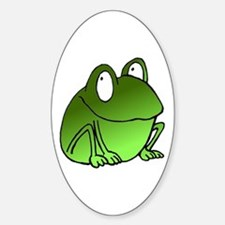 Freaky Frog Oval Decal