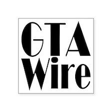 "GTA Wire Black logo blank Square Sticker 3"" x 3"""