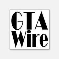 "GTA Wire Black logo blank Square Sticker 3"" x 3"""