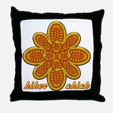 Hiker Chick orange copy Throw Pillow