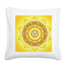 Solar Plexus Chakra Square Canvas Pillow