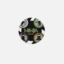 Ninja Master Logo Mini Button