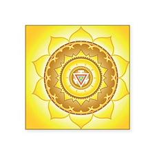 "Solar Plexus Chakra Square Sticker 3"" x 3"""