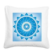 Throat Chakra Square Canvas Pillow