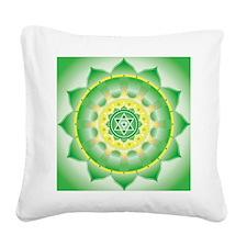 Heart Chakra Square Canvas Pillow