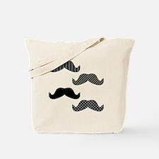 Dark Mustache Tote Bag