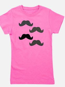 Dark Mustache Girl's Tee