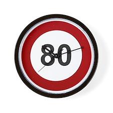 80 mph Wall Clock