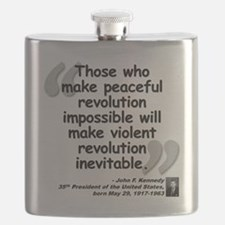 Kennedy Revolution Quote Flask
