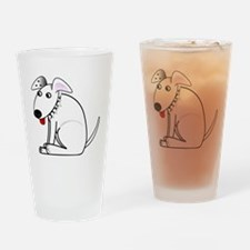 bullterrier Drinking Glass