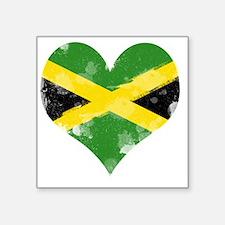 "A Jamaican Heart Square Sticker 3"" x 3"""