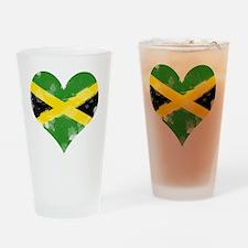 A Jamaican Heart Drinking Glass