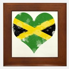 A Jamaican Heart Framed Tile