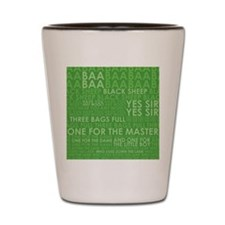 baa baa extra large Shot Glass