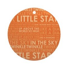 twinkle twinkle Round Ornament