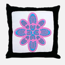 Pink Blue Boot Original Throw Pillow