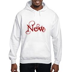 New - Red Hooded Sweatshirt