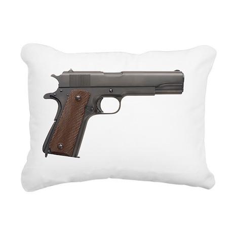 US 1911A1 Colt 45 Pistol Rectangular Canvas Pillow