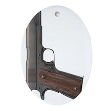 US Colt 45 Pistol Oval Ornament