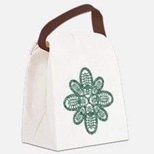 Boot Art Marble Canvas Lunch Bag