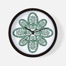 Boot Art Marble Wall Clock