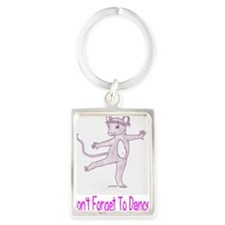 Dont  Forget To Dance Portrait Keychain