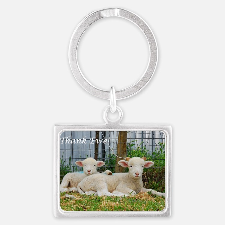 Thank You Cards ~ Buddy Lambs Landscape Keychain