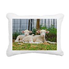 Ewephorics Buddy Lambs Rectangular Canvas Pillow