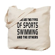 Swimming Designs Tote Bag