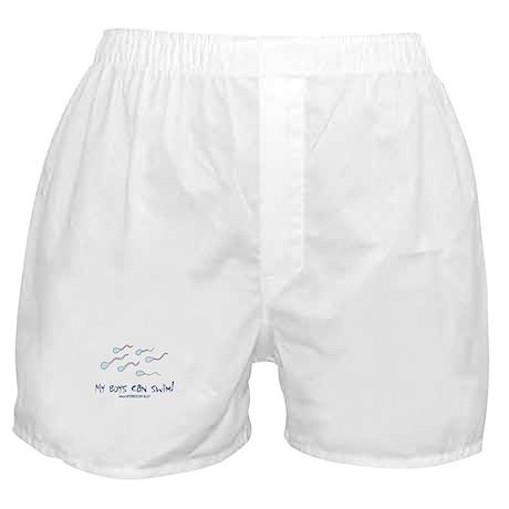 Boys Can Swim Boxer Shorts