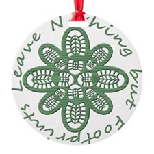 boot nothing but footprints grn Ornament