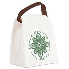 boot nothing but footprints grn Canvas Lunch Bag