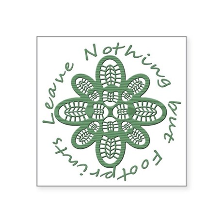 """boot nothing but footprints Square Sticker 3"""" x 3"""""""