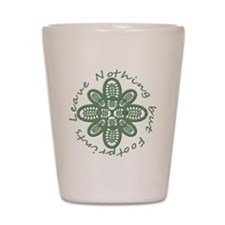 boot nothing but footprints grn Shot Glass