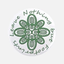 "boot nothing but footprints grn 3.5"" Button"