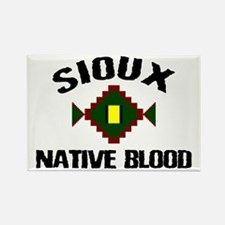 Sioux Native Blood Rectangle Magnet