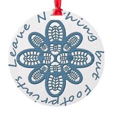 Nothing but Bootprints Blu Ornament