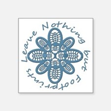 "Nothing but Bootprints Blu Square Sticker 3"" x 3"""
