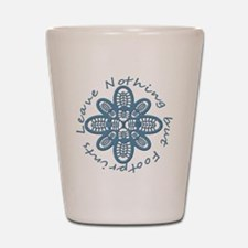 Nothing but Bootprints Blu Shot Glass