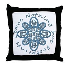 Nothing but Bootprints Blu Throw Pillow