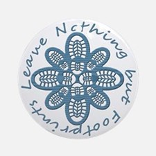 Nothing but Bootprints Blu Round Ornament
