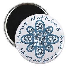 Nothing but Bootprints Blu Magnet