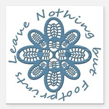 "Nothing but Bootprints B Square Car Magnet 3"" x 3"""