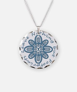 Nothing but Bootprints Blu Necklace
