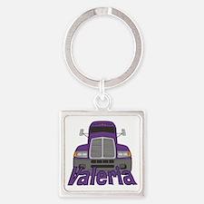 valeria-g-trucker Square Keychain