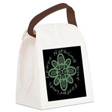 Leave Nothing Boot Grn Blk Canvas Lunch Bag