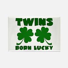 Born Lucky Rectangle Magnet