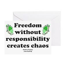 chaosposter Greeting Card