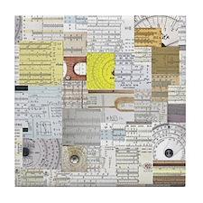 sliderule_wallpaper_200dpi_10in Tile Coaster